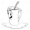 cup with mug surprised expression coloring royalty free vectors and stock illustration coloring pages Coffee Mug Coloring Page