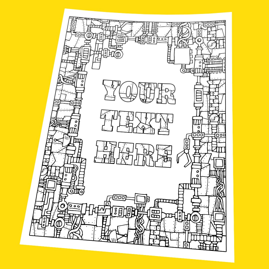 custom coloring from your message sarah renae book artist and designer portrait crayola coloring pages Custom Coloring Page