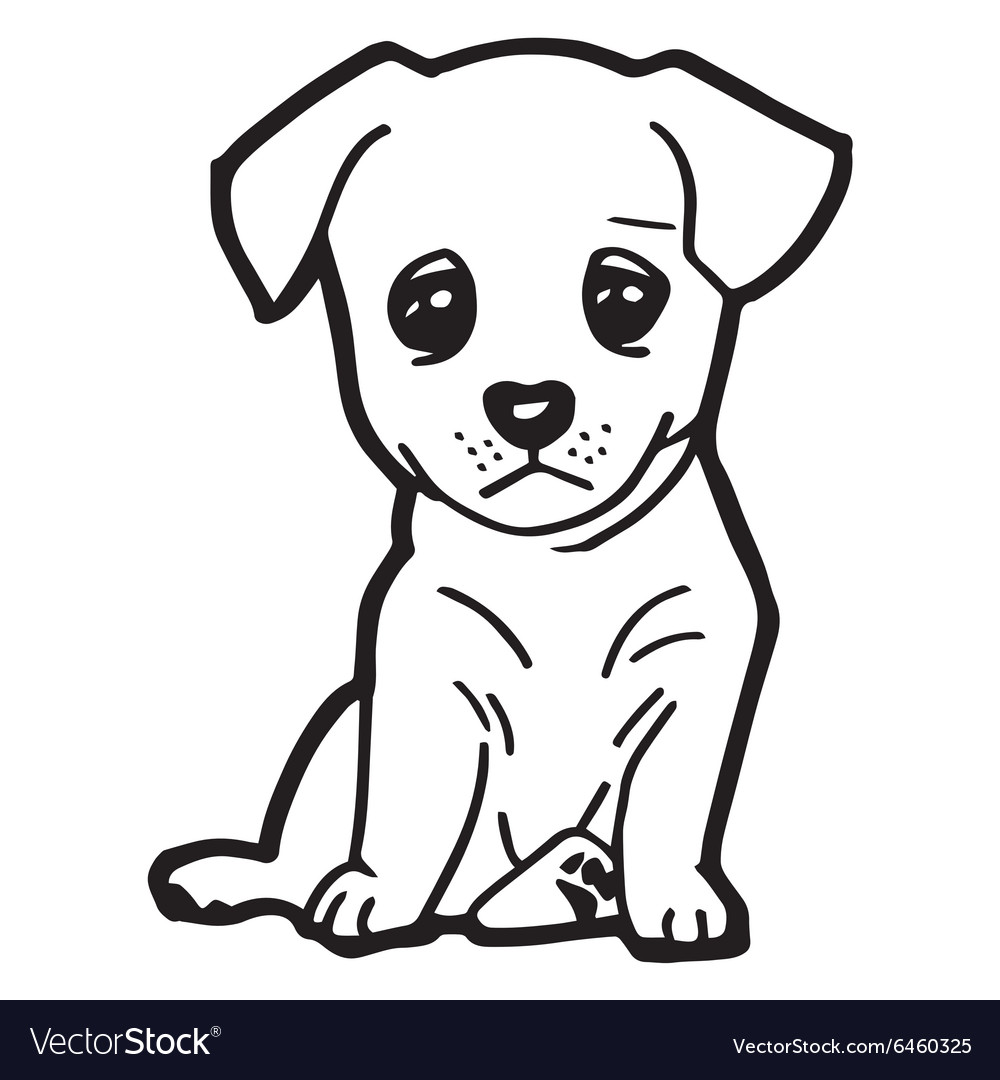 cute dog coloring royalty free vector image monster truck car pad us president printables coloring pages Cute Dog Coloring Page