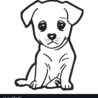 cute dog coloring royalty free vector image of disney giant sven frozen drawinh dot to coloring pages Coloring Page Of A Dog