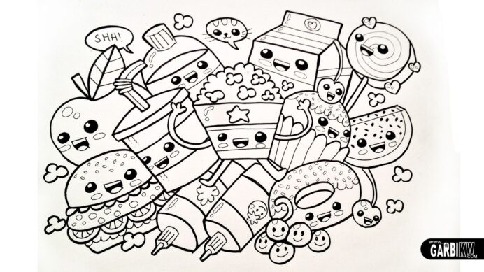 cute foods coloring free home food nieykmzxt moon phases game hot pink colour kids coloring pages Coloring Page Food