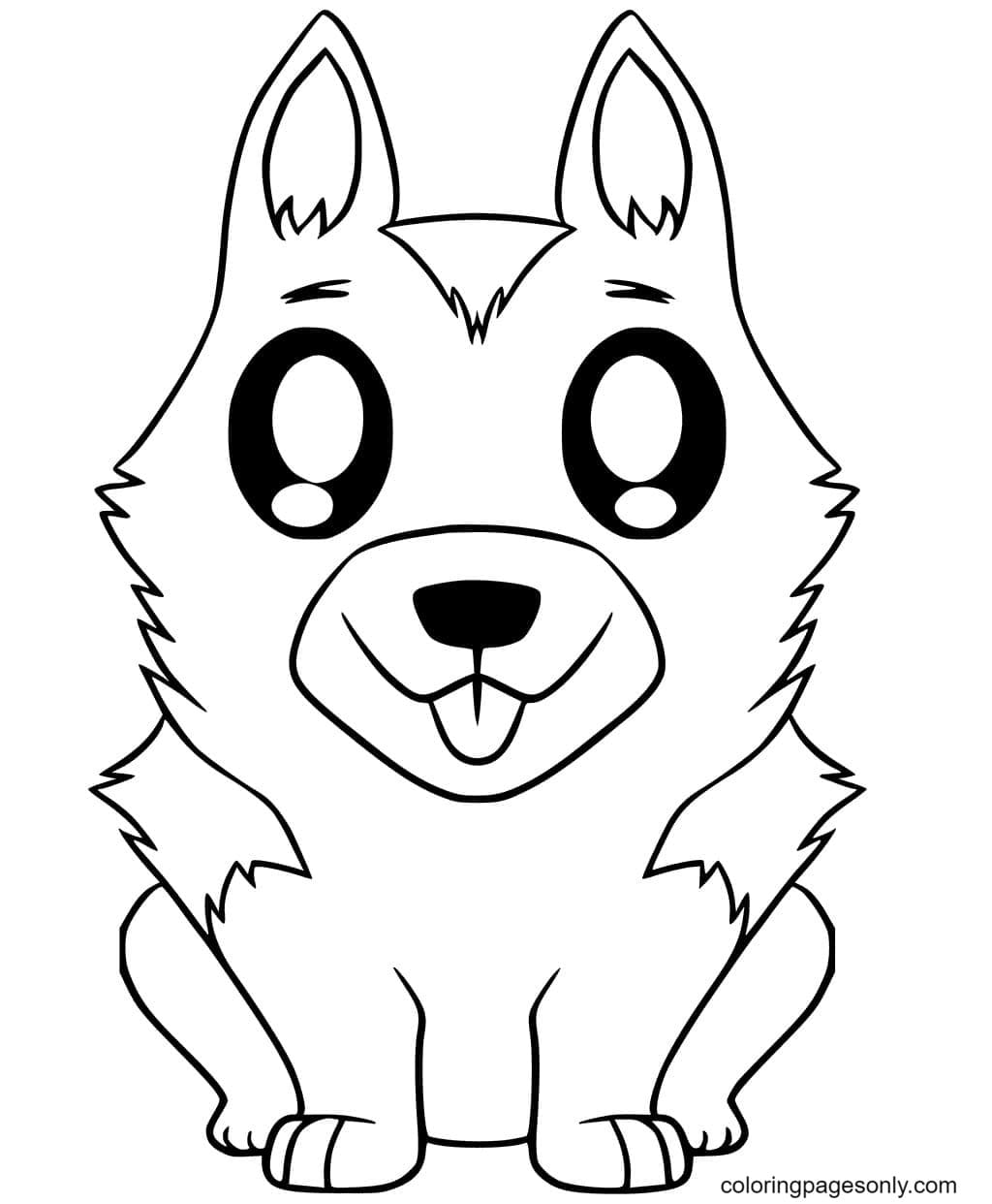 cute german shepherd puppy coloring for kids and adults commandments art projects coloring pages German Shepherd Coloring Page