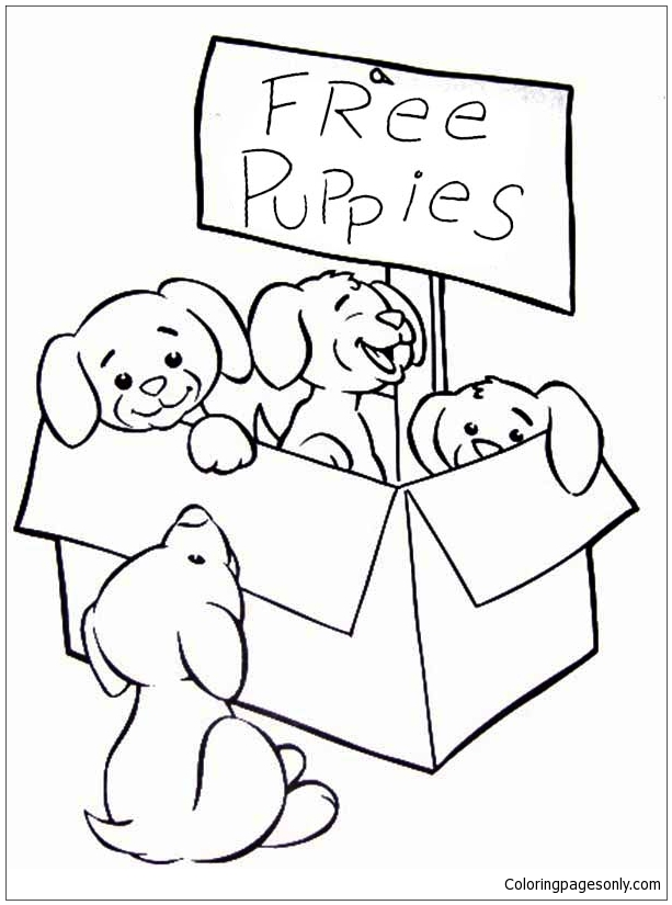 cute puppies coloring puppy for kids and adults puppies00 ariel optical illusions coloring pages Cute Puppy Coloring Page