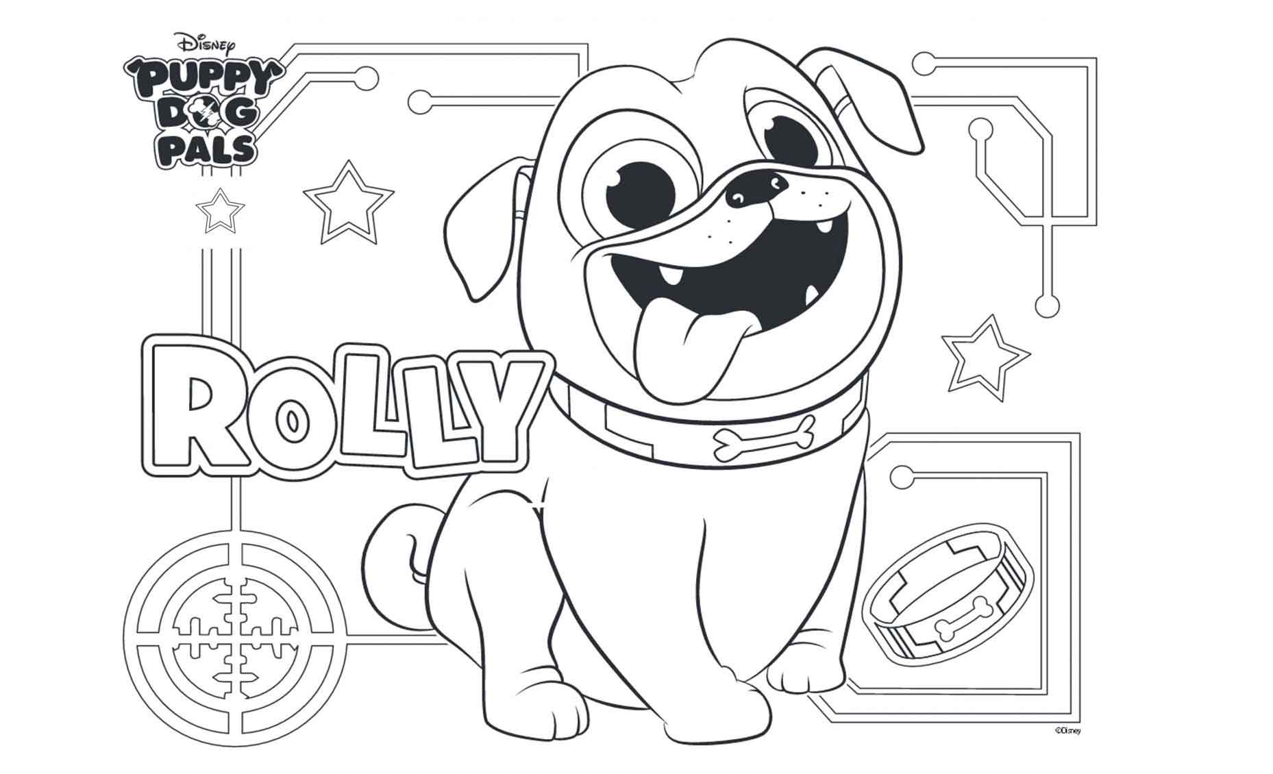 cute rolly puppy dog pals coloring free printable to print for kids ecolorings info plant coloring pages Puppy Dog Pals Coloring Page