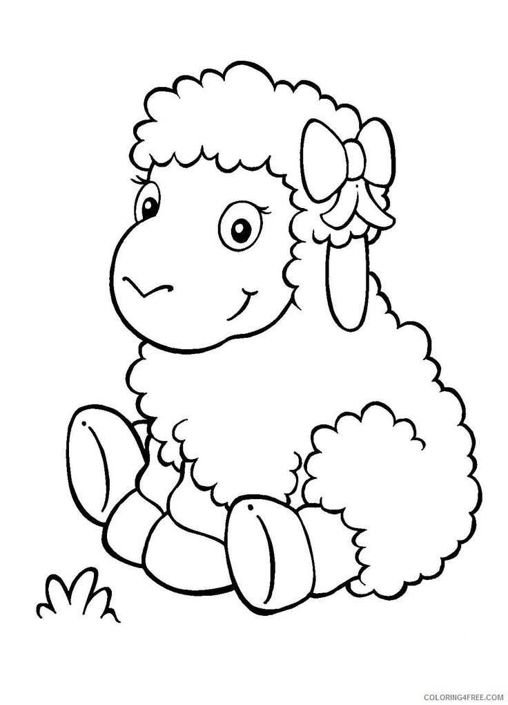 cute sheep coloring for kids coloring4free bravery in heroism creative activities coloring pages Coloring Page Sheep
