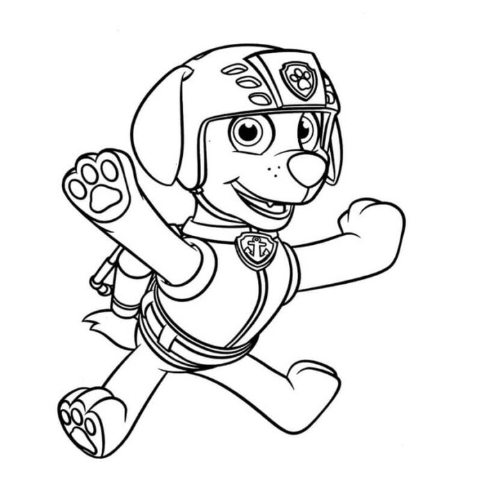 cute zuma paw patrol coloring free printable for kids thanksgiving activity sheet my coloring pages Zuma Coloring Page
