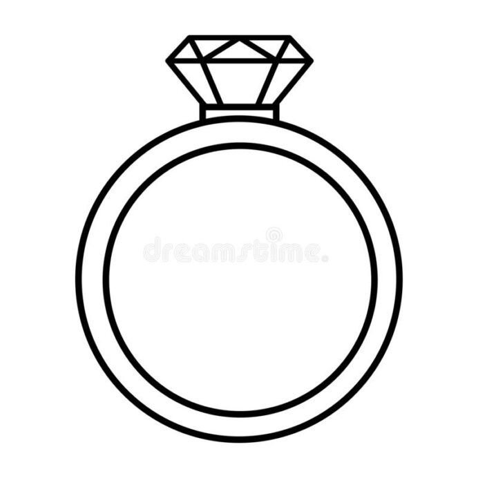 diamond ring coloring stock illustrations vectors clipart dreamstime icon outline vector coloring pages Ring Coloring Page