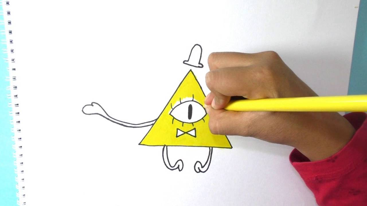 dibujando coloreando bill cipher gravity drawing and coloring books crayons adult winter coloring pages Bill Cipher Coloring Page