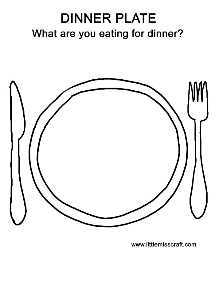 dinner plate coloring worksheets 99worksheets plates clipart pictures for kids color by coloring pages Plate Coloring Page