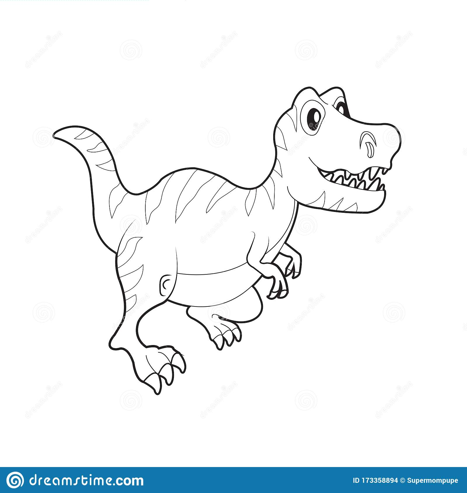 dinosaur colouring cute coloring stock vector illustration of comic dino for kids fashion coloring pages Coloring Page Cute