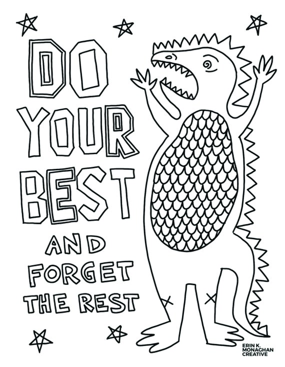 do your best dinosaur coloring sheet growth mindset for kids etsy il 570xn rqkb fabric coloring pages Growth Mindset Coloring Page