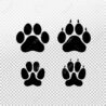 dog or cat set paw print flat icon for animal apps and websites template your graphic coloring pages Dog Paw Print Stencil Printable Free