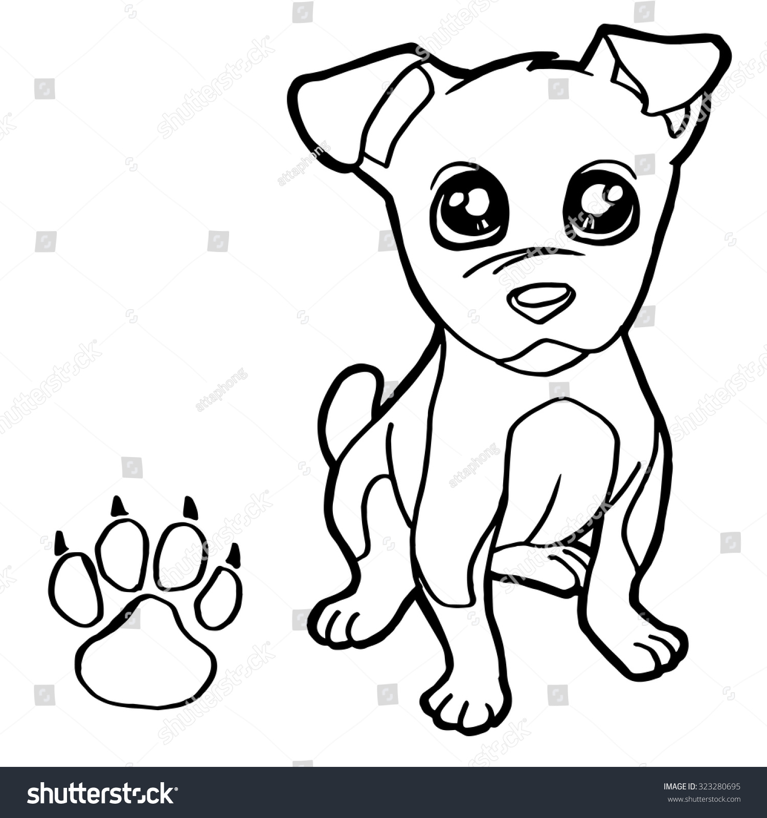 dog paw print coloring vector stock royalty free with thanksgiving drawing prints coloring pages Dog Paw Print Coloring Page