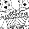 dogs and popcorn coloring dog 735x400 colorable minecraft pictures crayola twistable coloring pages Popcorn Coloring Page