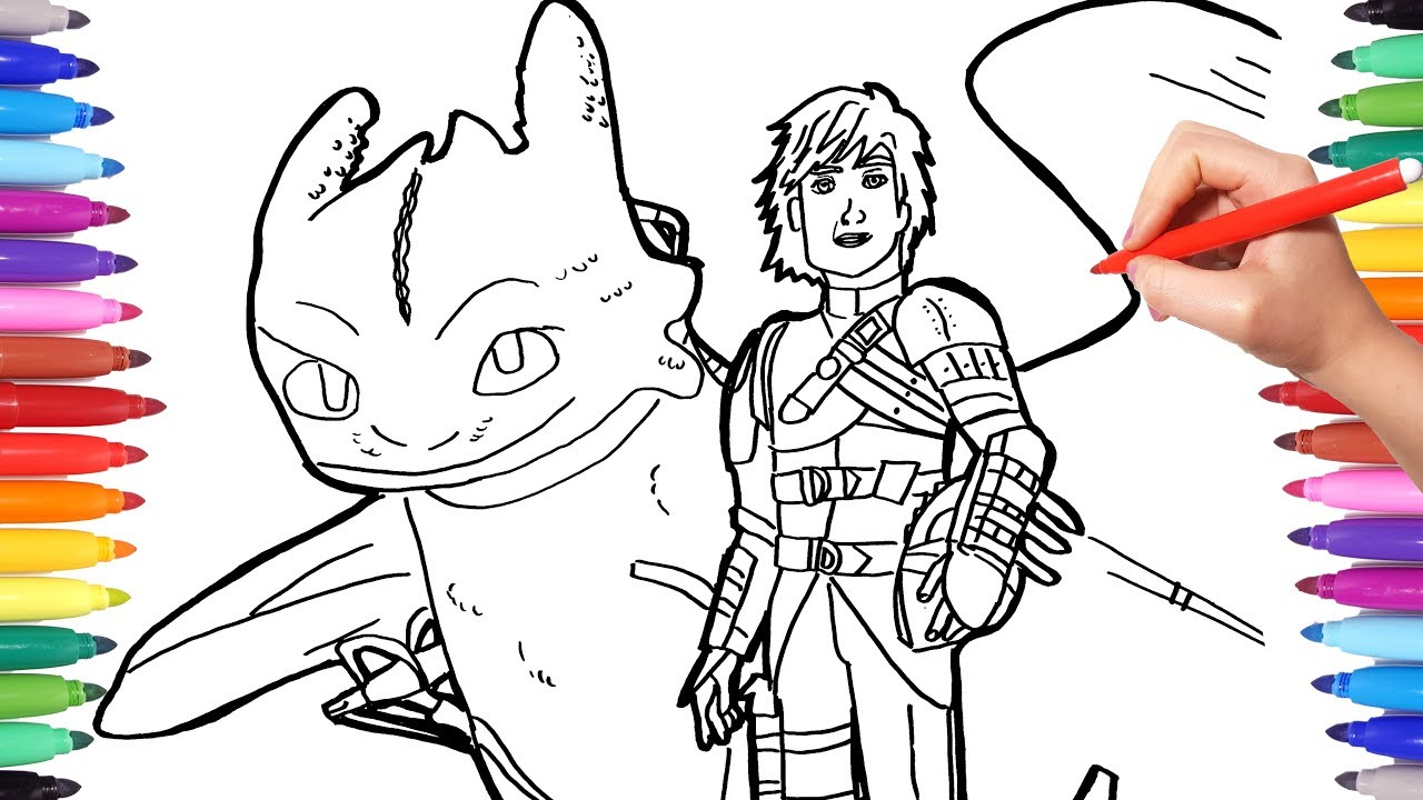 dragon trainer coloring watch to draw hiccup toothless train your making bagpipes college coloring pages Toothless Dragon Coloring Page