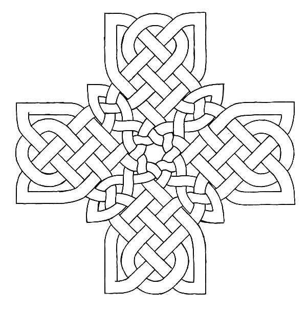 drawing celtic coloring best place to color pumpkin cut out fall activities hot coloring pages Celtic Cross Coloring Page