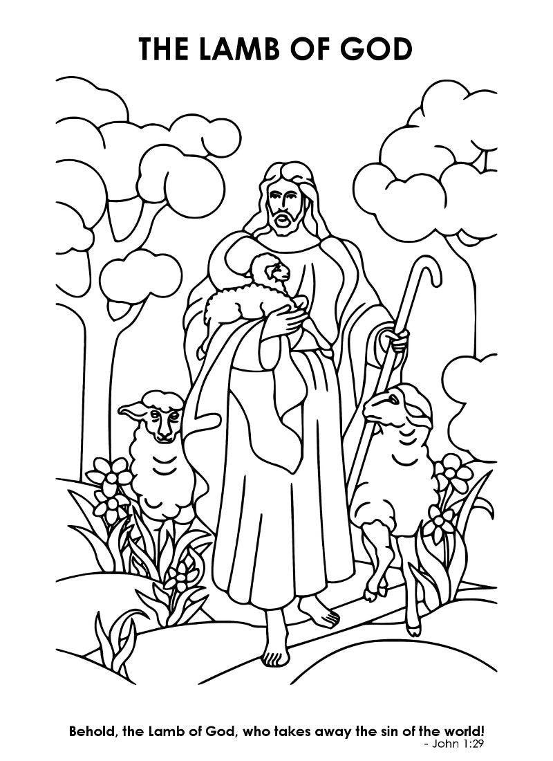 easter coloring mom life made easy of adult stickers supermarket to color sqaures tiki coloring pages Lamb Of God Coloring Page