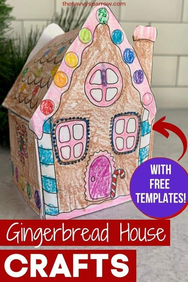 easy gingerbread house crafts for kids with free printable template man pattern frozen coloring pages Free Printable Gingerbread Man Pattern