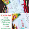 elf on the shelf coloring for kids and elves free printable sheets best beginner coloring pages Elf On A Shelf Coloring Page