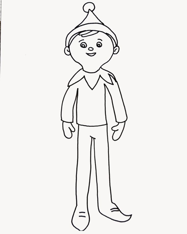 elf on the shelf coloring to print home 7tarxxdxc pilgram pictures free leaf watercolor coloring pages Elf On A Shelf Coloring Page