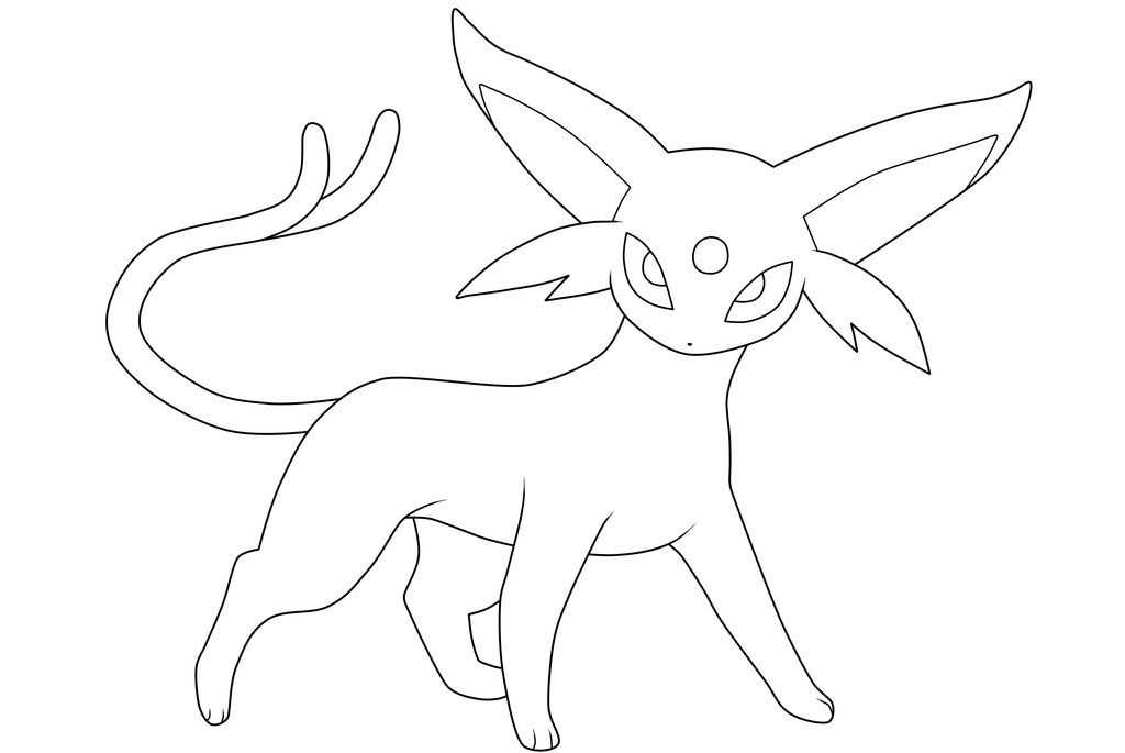 espeon lineart by moxie2d on deviantart pokemon coloring drawings washable fabric marker coloring pages Espeon Coloring Page