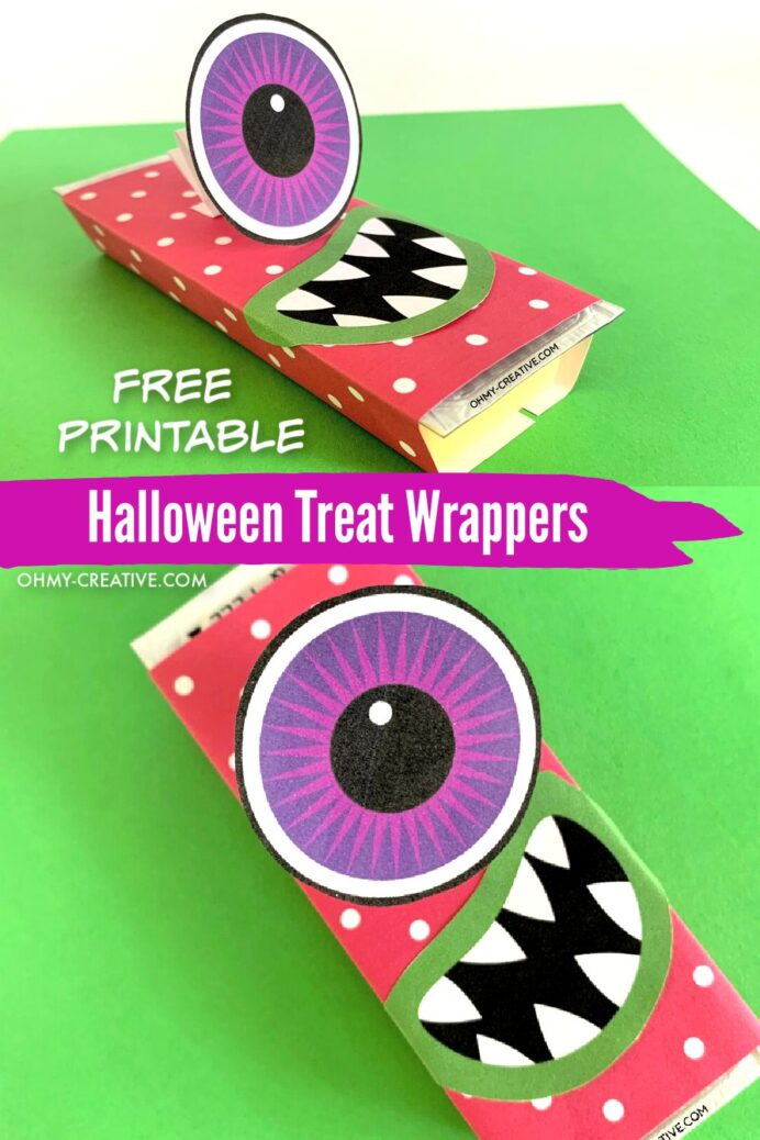 eye popping monster halloween candy bar wrappers oh my creative free printable treat coloring pages Free Printable Halloween Candy Bar Wrappers