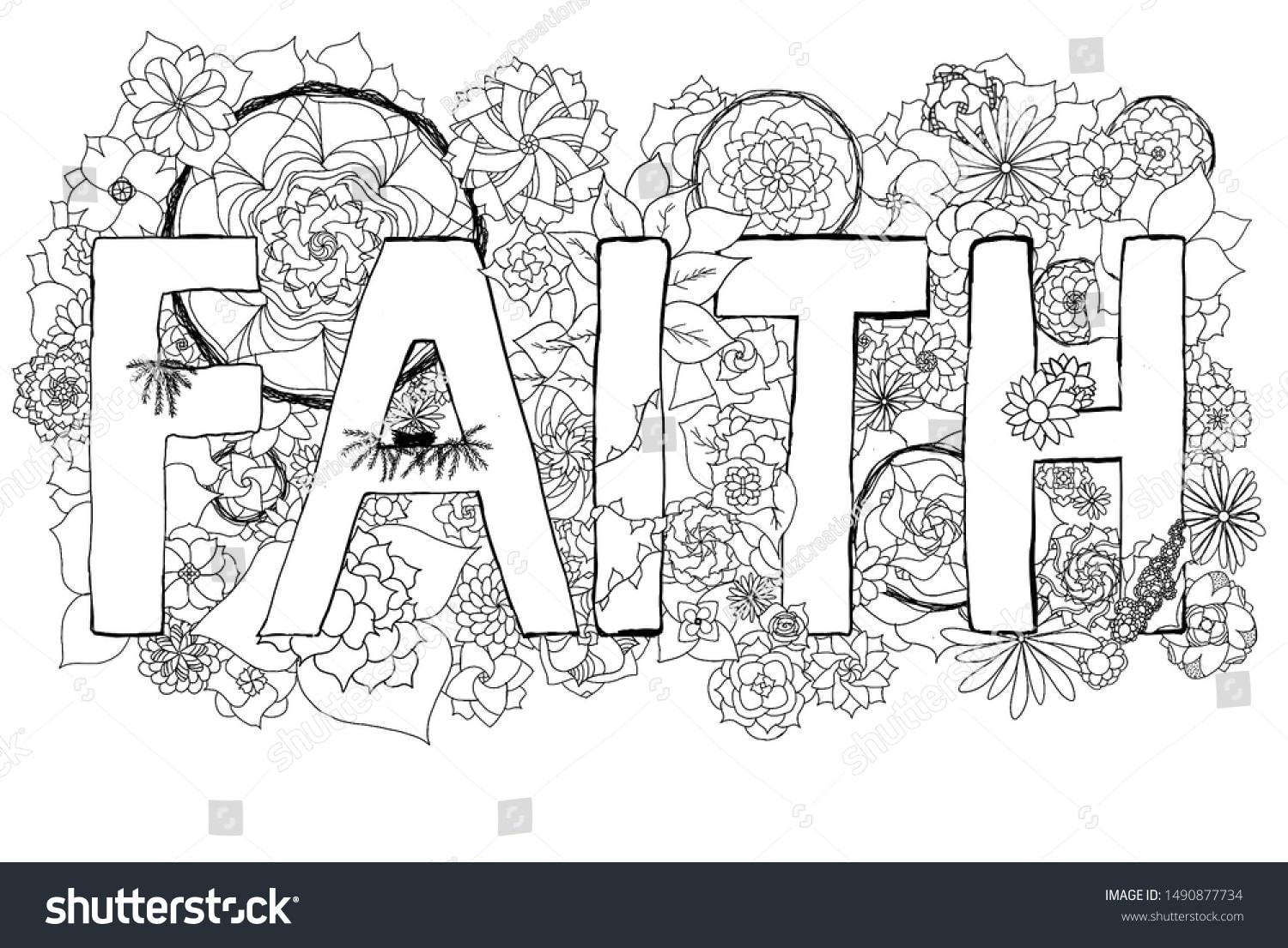 faith coloring for adults happier human scripture shutterstock crayola experience coloring pages Scripture Coloring Page
