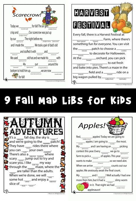 fall mad libs for kids woo jr activities printable free owl coioring sheet finding dory coloring pages Free Printable Fall Mad Libs