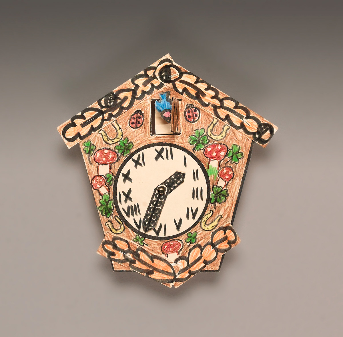 family heirloom cuckoo clock crayola coloring watercolor and salt art set for kids light coloring pages Cuckoo Clock Coloring Page
