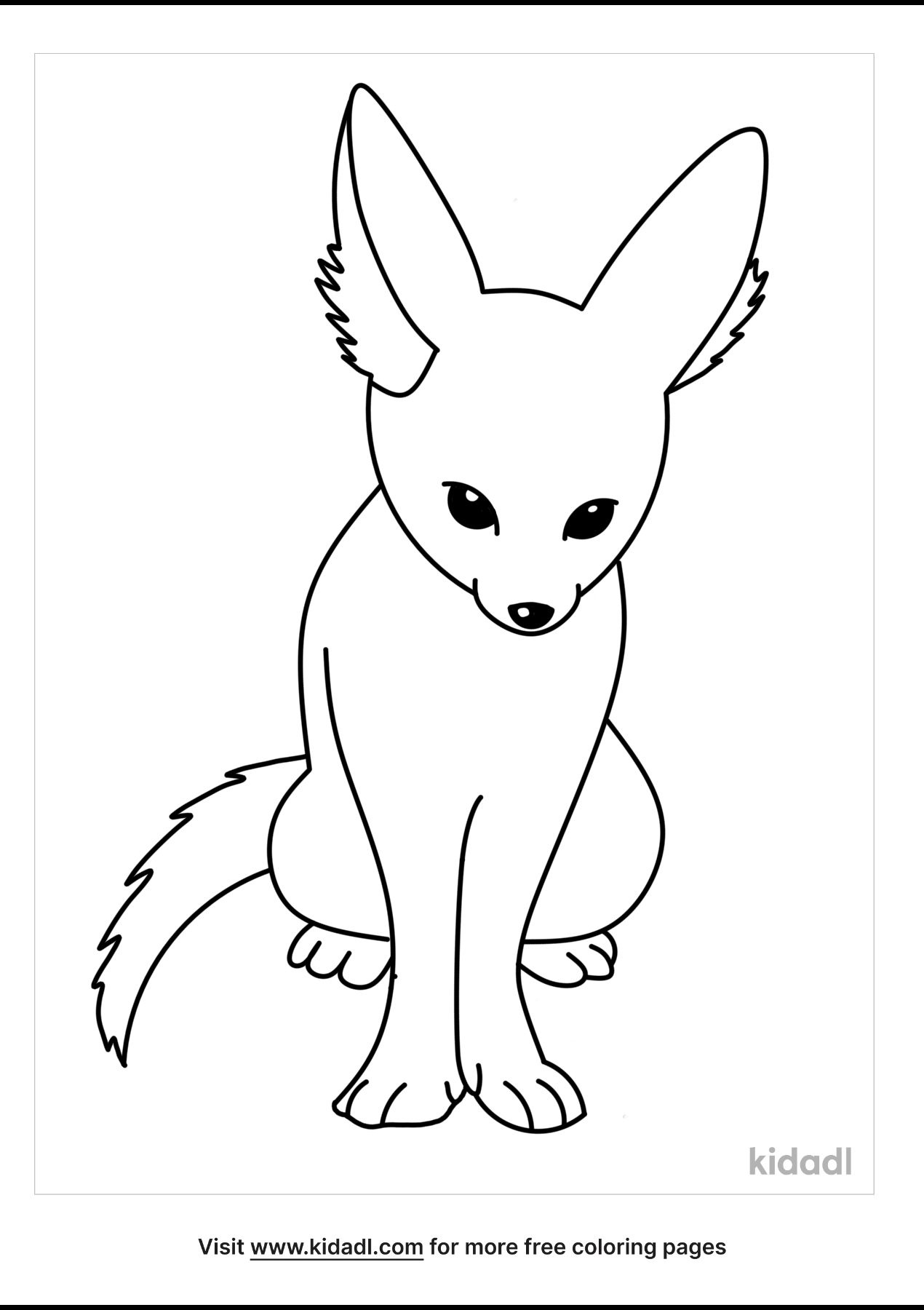 fennec fox coloring free animals kidadl cool cars to color for kids funny names crayons coloring pages Fennec Fox Coloring Page