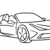 ferrari coloring books speciale free drawing worksheets plastic treat cups for cards coloring pages Ferrari Coloring Page