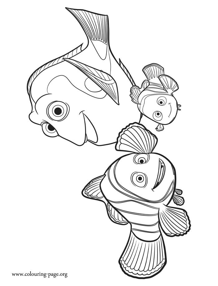 finding dory marlin nemo and coloring movie sheet writing free printable footprints coloring pages Dory Coloring Page