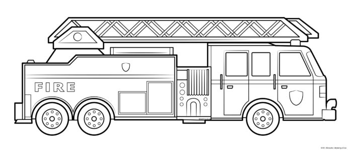 fire truck coloring drawing of eu teacher supplies books for boys kid fun crayons coloring pages Coloring Page Fire Truck
