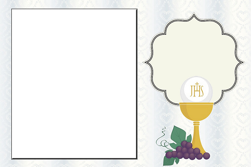 first communion free printable invitations or cards oh my fiesta in english 1convite1 hot coloring pages Free Printable First Communion Cards