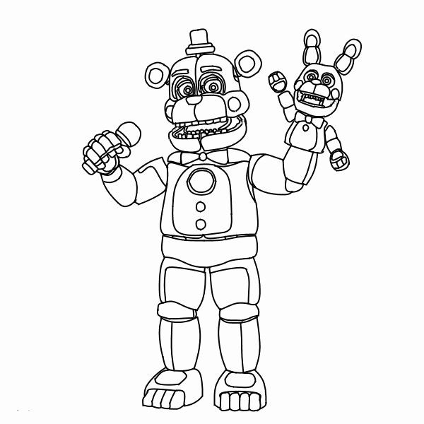 five nights at freddy coloring book new fnaf books color scarlet by numbers cartock paper coloring pages Freddy Coloring Page