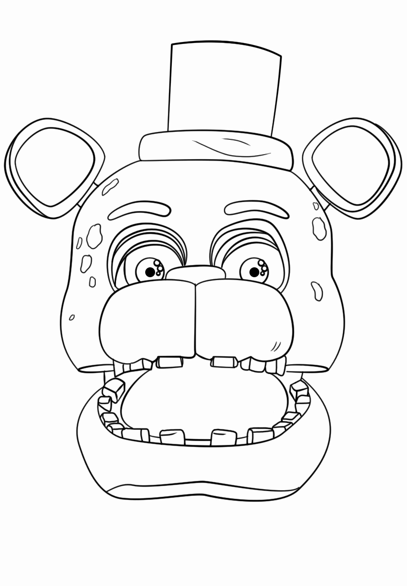 five nights at freddy coloring free printable home 9izxarg5t cartock color drawn optical coloring pages Freddy Coloring Page
