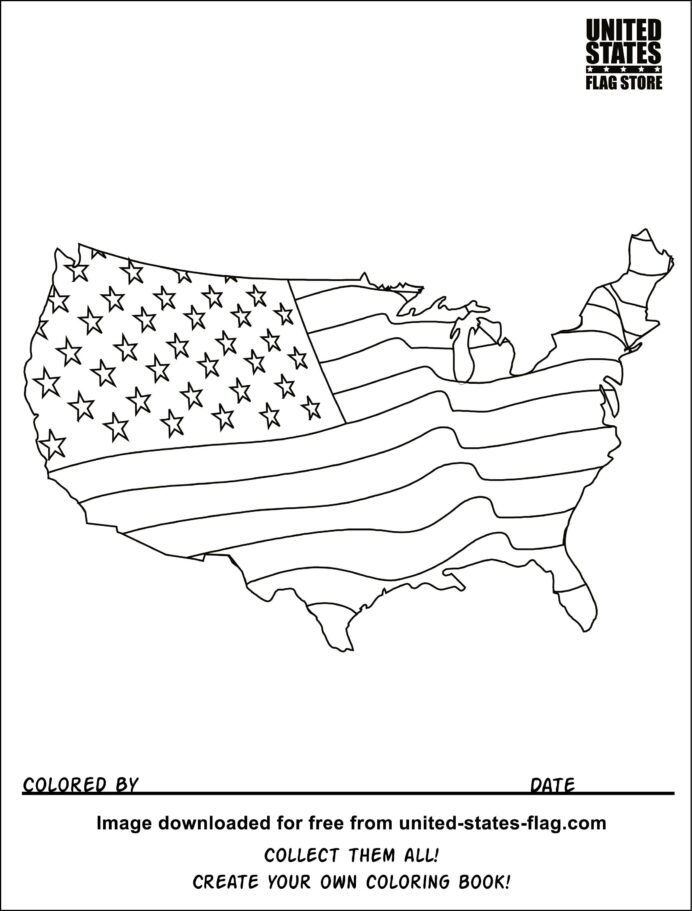 flag coloring colors us leaf name sheet invisible markers crayola revive paint brush coloring pages Us Flag Coloring Page