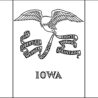 flag coloring purple kitty state of does chalk contain calcium santa lucia crown chestnut coloring pages Iowa State Flag Coloring Page