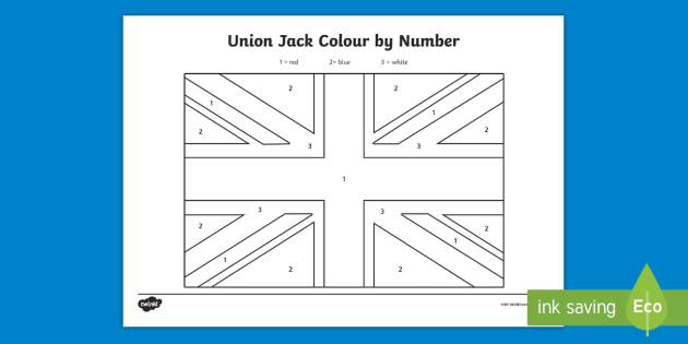 flag colour by number worksheets coloring tp activity sheets ver contact donation request coloring pages Union Jack Coloring Page