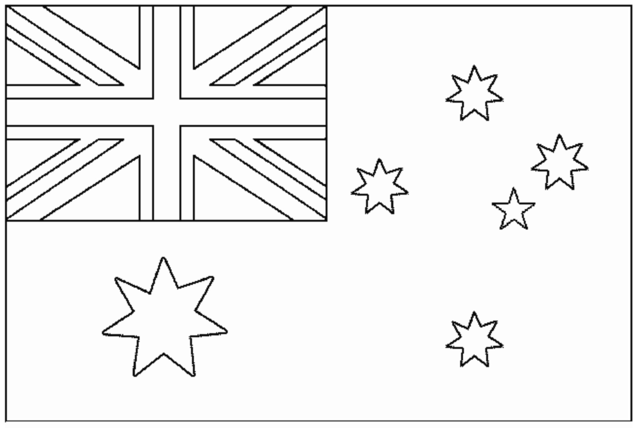 flag flags coloring for kids to print color homophone crayola crayons walmart steam coloring pages Australia Flag Coloring Page
