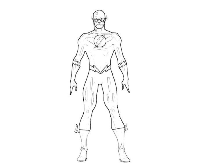 flash superheroes printable coloring winter holiday drawings perrywinkle colour numbers coloring pages Flash Coloring Page