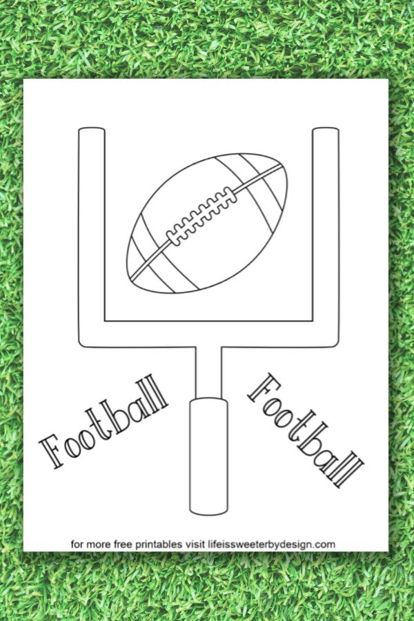 football coloring life is sweeter by design free printable crayola experience pa coupons coloring pages Free Printable Football