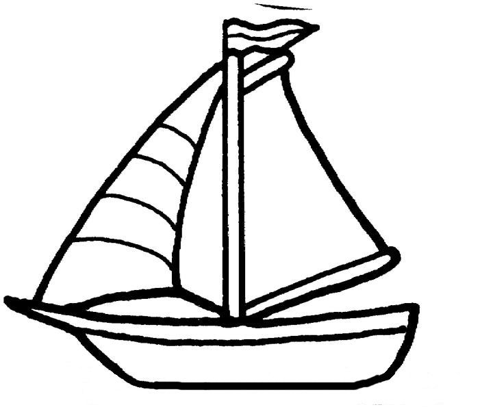 for boat walking by the way coloring kids crafts sail red paint bucket spring craft coloring pages Sail Boat Coloring Page