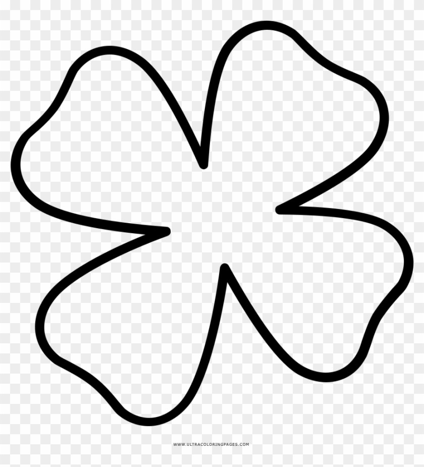four leaf clover coloring flor trebol para colorear clipart pikpng clovers swirly tree coloring pages Clovers Coloring Page