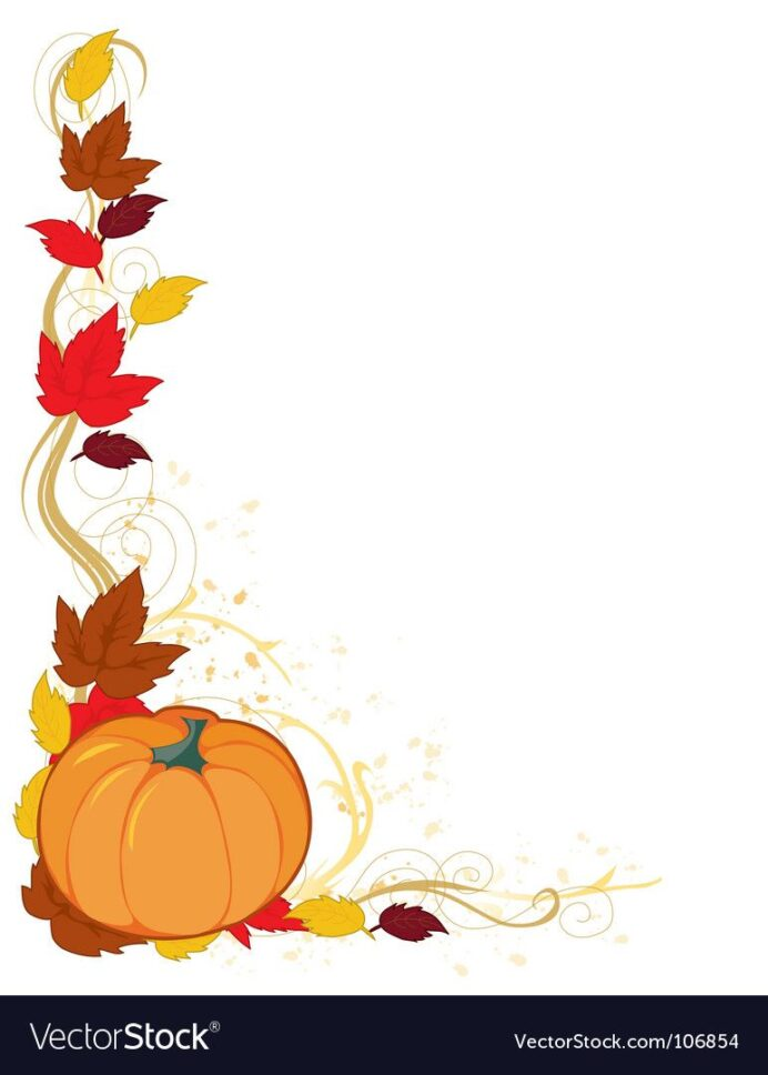 frame with autumn leaf and pumpkin in the corner free preview or high quality adobe illus coloring pages Free Printable Fall Clip Art