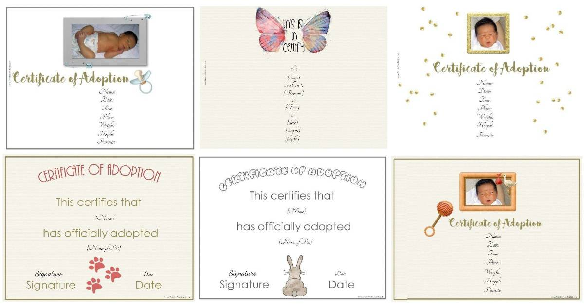 free adoption certificate template customize printable papers lesson plans using tree coloring pages Free Printable Adoption Papers