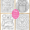 free adult coloring detailed printable for grown ups art is fun by thaneeya mcardle coloring pages Free Printable Coloring Page
