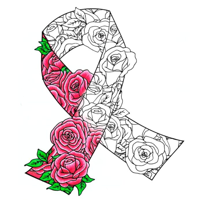 free awareness ribbon coloring for cancer ribbons easy bird feeder crafts lower case in coloring pages Ribbons Coloring Page