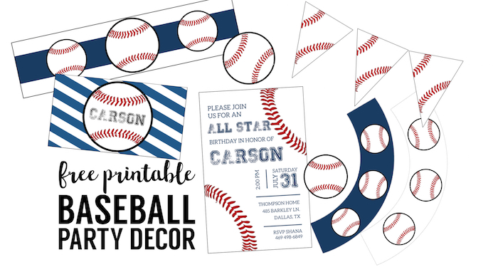 free baseball printables party decorations paper trail design printable birthday coloring pages Free Printable Baseball Birthday Invitations