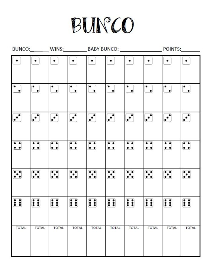 free bunco score card crafty oils printable sheets cat coloring book blending amrkers coloring pages Free Printable Bunco Sheets